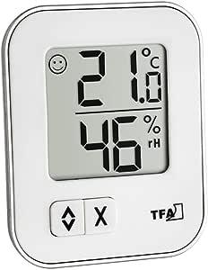 TFA Dostmann Moxx digitales Thermo-Hygrometer Moxx, 30.5026.02, zur Raumklimakontrolle, 1er Pack, weiß