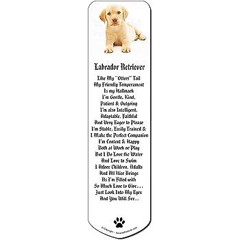 Yellow Labrador Bookmark AD-L4BM Book Mark Christmas Stocking Filler//Birthday