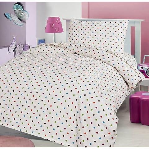 LOVE2SLEEP - Juego de cama infantil (franela de algodón 100%, incluye sábana bajera, sábana, y funda de almohada, 70 x 140 cm), diseño a
