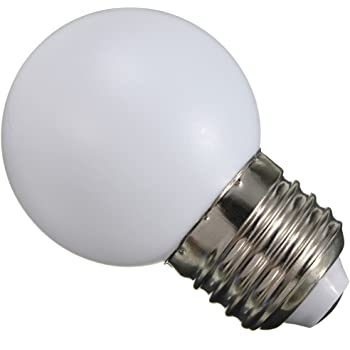 220v E27 1W LED Bombilla Lámpara Globo Ahorro de Energía Pelota de Golf Partido Fiesta - Blanco Cálido