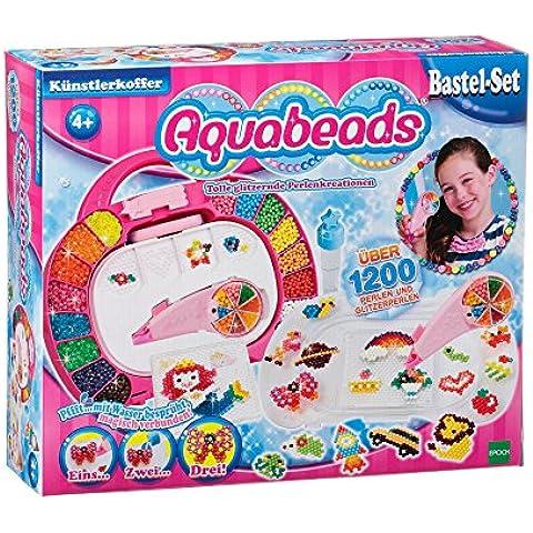 Aquabeads 79328 - Set per lavoretti manuali per bambini, con perline colorate e valigetta [Lingua tedesca] - Bambini Perline