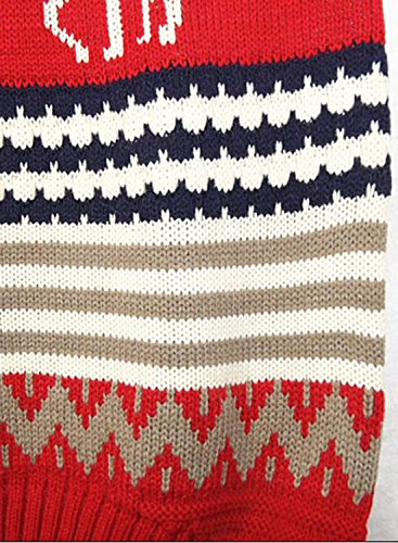 ACHICGIRL Women's Christmas Elk Graphic Oversized Pullover Knit Sweater Kaki