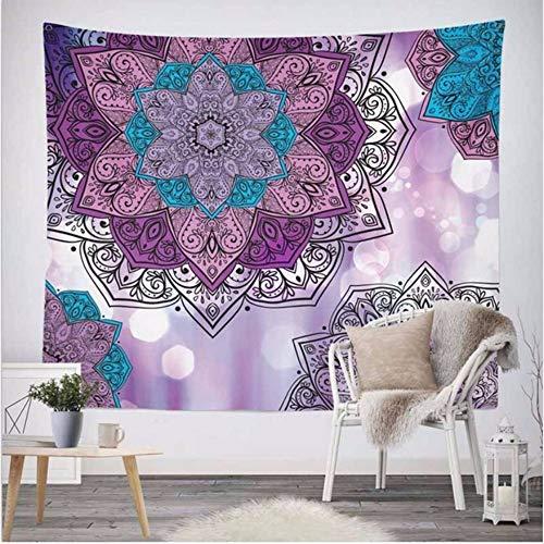 LLLYZZ Indien Mandala Tapisserie Hängende Wand Floral Gobelin Stoff Polyester/Baumwolle Tagesdecke Tischdecken-150cmx210cm -