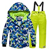 LSERVER Veste de Ski Enfant Fille Garçon Pantalon de Ski Vêtement de Neige Epaisse...