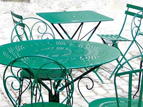 Au intérieur de la cour - Motif artiste exclusif XXL Image murale Dimensions : 100 x 80 cm Format paysage Impression numérique sur toile sur châssis 2 cm Table Café Bar France Art Grand Modèle