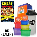 SMART PORTIONS Containers Kit For Weight Loss, LEAK & BPA Free, Easy Storage, 7 PCS Multi Colored in Giftbox + FREE SHAKER LEAK FREE BONUS , GUIDE FOR 21 DAYS, E-BOOK Guide For Loss weight