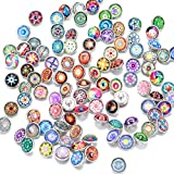 Soleebee Glas Aluminium 12mm Click Button Schmuck Charms Set 60