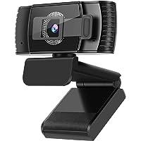 Kaulery Webcam 1080p Full HD, Autofocus e Microfoni con Riduzione del Rumore, Telecamera PC per Video Chat e…