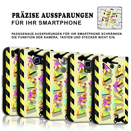 Wallet Book Style Flip Handy Tasche Case Schutz Hülle Schale Motiv Etui für Apple iPhone 6 / 6S - Variante UMV17 Design12 Design 4