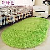 La preciosa alfombra oval felpudo hogar Salón mesa de café alfombras habitación cama dormitorio moqueta Mantas Cama 80*120,80x120cmshort, luz verde