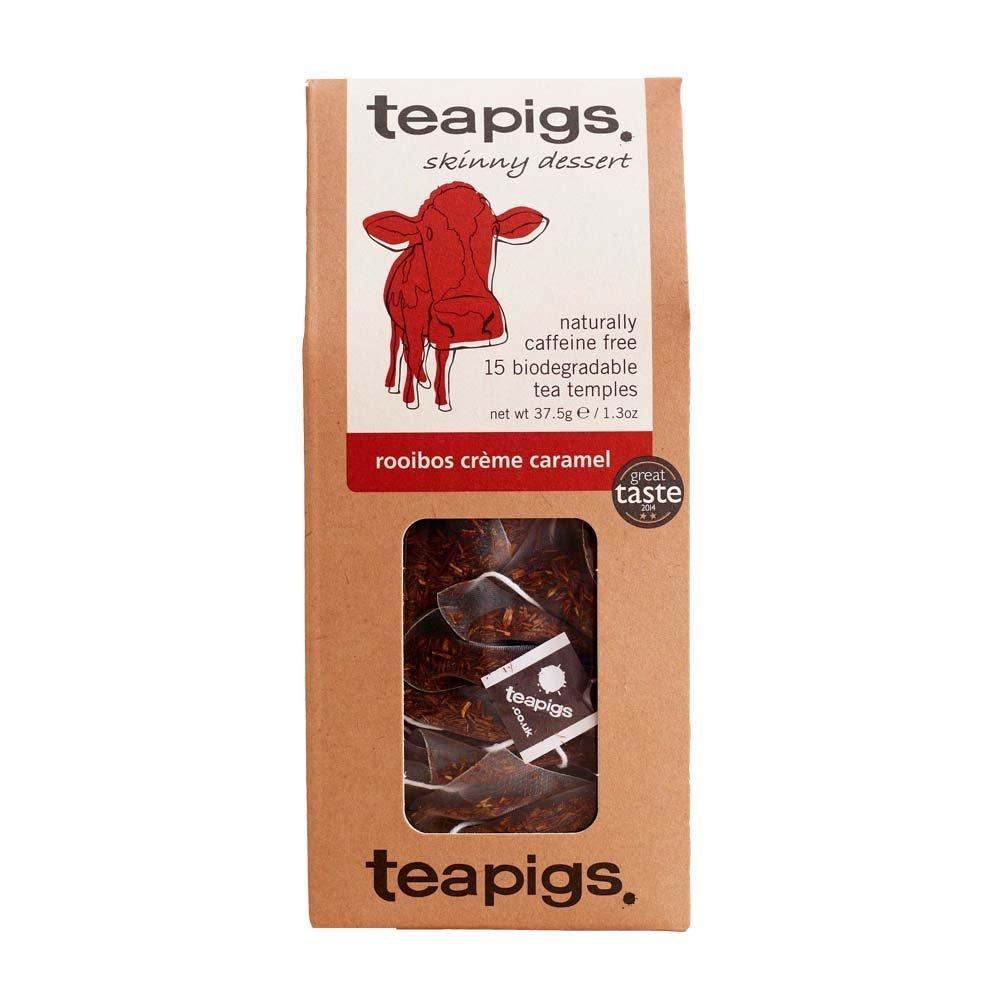 Teapigs rooibos creme caramel tea (rooibos tea) (15 bags) (brews in 3 minutes)