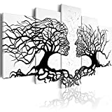 murando - Bilder Bäume Liebe 200x100 cm Vlies Leinwandbild 5 TLG Kunstdruck modern Wandbilder XXL Wanddekoration Design Wand Bild - Abstrakt a-A-0104-b-m
