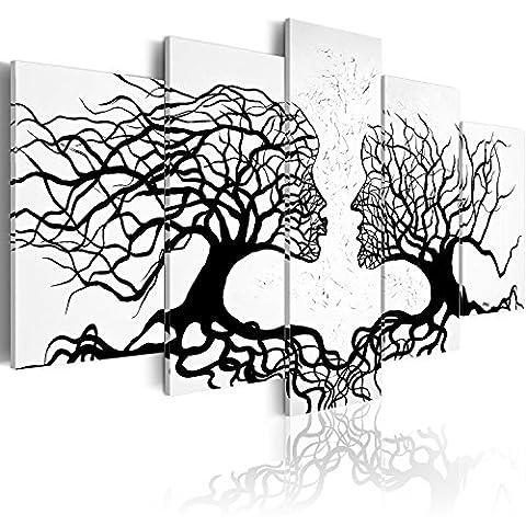 murando Bilder 200x100 cm - Leinwandbilder - Fertig Aufgespannt - Vlies Leinwand - 5 Teilig - Wandbilder XXL - Kunstdrucke - Wandbild - Abstrakt