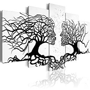 murando – Bilder Bäume Liebe 100×50 cm Vlies Leinwandbild 5 TLG Kunstdruck modern Wandbilder XXL Wanddekoration Design…