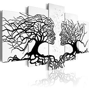 murando Bilder 225x112 cm - Leinwandbilder - Fertig Aufgespannt - Vlies Leinwand - 5 Teilig - Wandbilder XXL - Kunstdrucke - Wandbild - Abstrakt a-A-0104-b-m