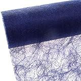 Deko AS GmbH sizo Flor Mesa Banda Azul Oscuro 30cm Rollo de 25m 60035de R