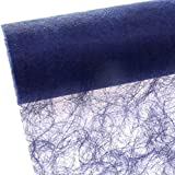 Sizoflor Camino de mesa - azul oscuro - 20 cm papel de 25 Meter - 60 035-R 200