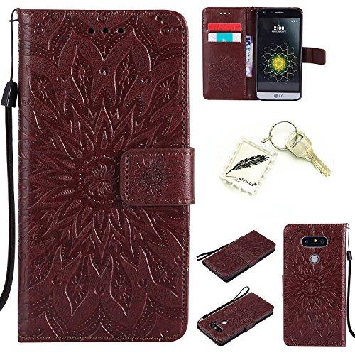 Preisvergleich Produktbild Silikonsoftshell PU Hülle für LG G5 (5,3 Zoll) Tasche Schutz Hülle Case Cover Etui Strass Schutz schutzhülle Bumper Schale Silicone case+Exquisite key chain X1#AD (4)