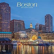Boston 2019 - 18-Monatskalender mit freier TravelDays-App: Original BrownTrout-Kalender