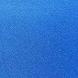 10 Blatt Klebefolie Glitzer Selbstklebende Dekofolie A4 Farbige Bastelfolie Glitter Vinyl Aufkleber für DIY Handwerk Scrapbooking Blau