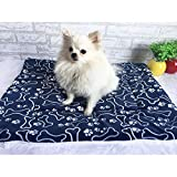 LissomPlume Tapis/Coussin De Chien En Velours Doux Lit Couchage Chiot Corbeille Chat Animal 55*70 bleu