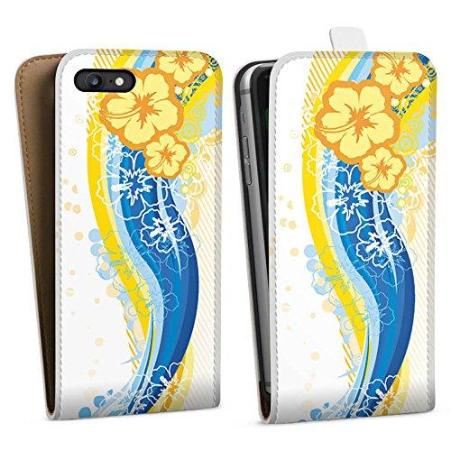 Apple iPhone X Silikon Hülle Case Schutzhülle Blumen Regenbogen bunt Downflip Tasche weiß