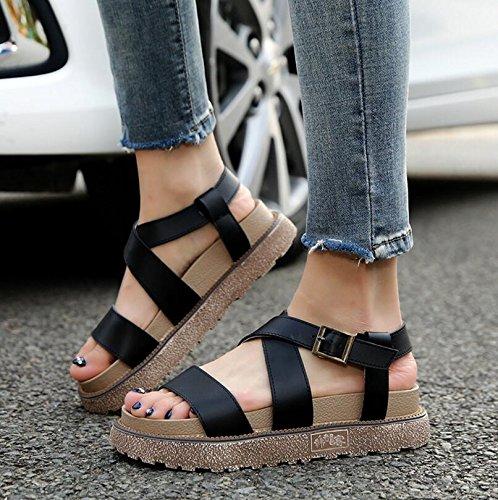 Zormey Handueke 2017 Schuhe Frau Plus Größe 35-43 Kleinigkeit Ferse Gladiator Sandalen Flip Flops Dicke Frauen Verband Untere Plateau Sandalen 10