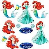 alles-meine.de GmbH 12 tlg. Set _ Wandtattoo / Sticker -  Disney Prinzessin - Arielle die Meerjun..
