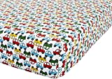Catherine Lansfield Transport Single Fitted Sheet, Polyester-Cotton, Bright, 14 x 4 x 37 cm