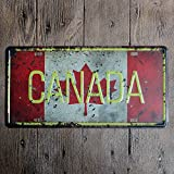eureya Kanada Auto Nummernschild Auto Tag Home/Cafe Bar/Pub/Restaurant/Ausstellung Wall Decor Poster Vintage Plaque 15,2 x 30,5 cm