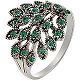 Anillo de pavo real anillo creativo para las mujeres anillo personalizado
