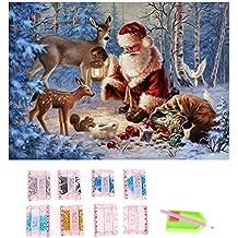 Gosear Navidad Serie Bricolaje Diamante Rhinestone Pintura Bordado Punto de Cruz imagen para Navidad Casa Decor