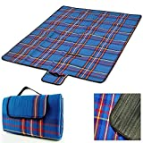Picnic Blanket 200 x 200 cm Waterproof Backing Light Foldable Large Outdoor Camping Beach Blanket