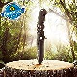 BERGKVIST Klappmesser extra scharf | Mattschwarzes Outdoor Survival Taschenmesser | Kompaktes Einhandmesser mit Edelstahlklinge & Aluminiumgehäuse | Ideal einsetzbar für Freizeit, Arbeit, Wandern & beim Camping -