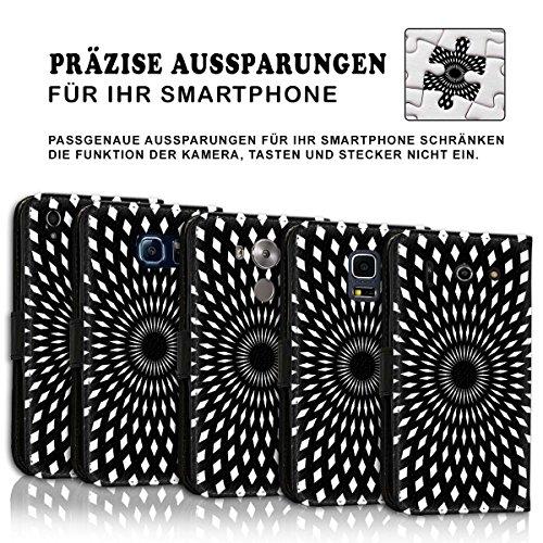Wallet Book Style Flip Handy Tasche Case Schutz Hülle Schale Motiv Etui für Apple iPhone 5 / 5S - Variante UMV16 Design12 Design 1