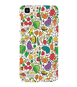Fiobs vegetables imagines as humans creative thought animated unique concept Designer Back Case Cover for Vivo Y27 :: VivoY27L