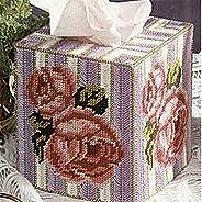 MUMUWUAE DIY 7ct Craft Stich Cross Stitch Needlework Embroidery Crafts Plastic Canvas Set Standard Tissue Box