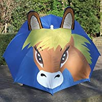 Children Horse Umbrella With Flashing Light and Neighing Sounds - Perfect For Children Presents