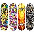 Hansson.Sports Skateboard Komplett Board aus Ahornholz, 79x20cm, 4 Motive zur Wahl