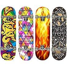 Hansson. Juwel–Tabla de skate de madera de arce, 4diseños a elegir