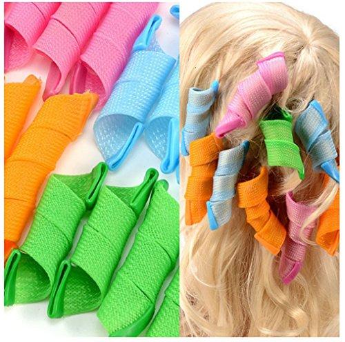 QiangWei 32 Lockenwickler, weich, flexibel, Locken, Haar, schafft Locken, lockig, Frisur