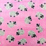 Schafplüsch, pink, superweich, Fleece-Stoff , ca. 160cm