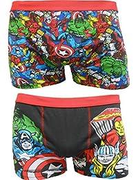 Marvel Comics Mens Boxer Shorts Dos Paquetes