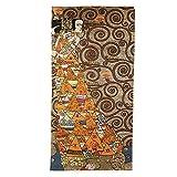 Artis Vivendi Wandteppich Gobelin Teppich Gustav Klimt Die Erwartung Dunkel Kleiner Teppich handgenäht
