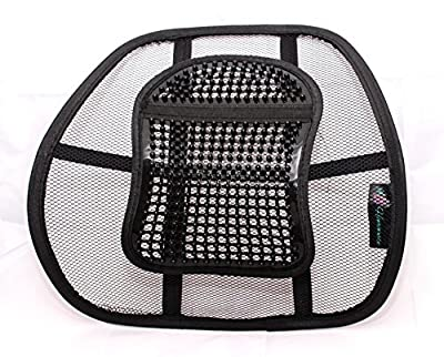 A&B HOMEWARE© High Quality Chair Back Support System Sit Right with Elasticated Positioning Strap and Mesh Lumbar Support Cushion for Car Seat or Chair Back Rest - low-cost UK light shop.