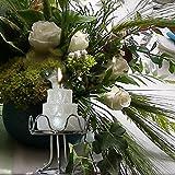 Hochzeitstorte auf Metall-Ständer Kerze Tischdekoration Hochzeit