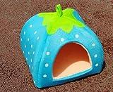 Kuschelhöhle Iglu in Erdbeeroptik, Erhältlich in 3 verschiedenen Größen und Farben - 5