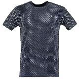 InselLeben | Herren T-Shirt | Anker-Fred | Allover Print Anker | (L, Blau)