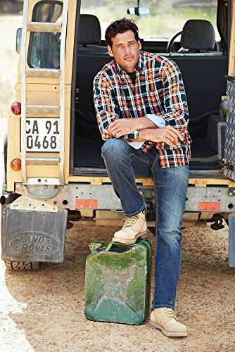 JP1880 Homme Grandes tailles Chemise à carreaux, comfort fit 693890 vert foncé