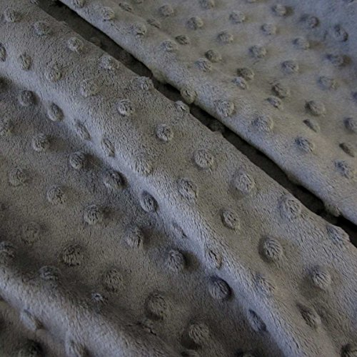 Stoff Meterware Softplüsch grau Minky Fleece Noppen Dots weich warm Mode Trendy